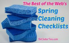 Best Of The WEB: Spring Cleaning Check Lists