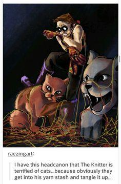 cat woman is his nemesis
