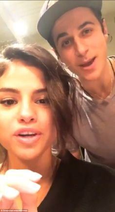 Instagram premiere! Selena Gomez and David Henrie reunited Saturday for the Kill Em With Kindness singer's first Instagram story