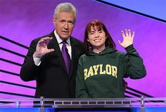 """Yes, that's Alex Trebek doing a """"sic 'em."""" // Blog: #Baylor junior Taylor Roth appears on Jeopardy (click to read more) #sicem"""