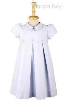 Vestido de festa infantil clássico com bordado da Maison Baby. #girlsdress #vestidoinfantildefesta