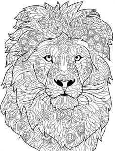 ausmalbilder-erwachsene-tiere-löwe-mandala-vorlage-ausdrucken | erwachsenen malbuch | ausmalen
