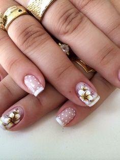 Fabulous Nails, Perfect Nails, Gorgeous Nails, Pretty Nail Art, Flower Nails, Cool Nail Designs, French Nails, Mani Pedi, Short Nails
