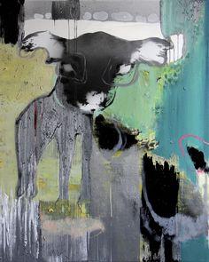 Therese Myran | Kjøp maleri, kunst og metalltrykk | Blackened Little Darlings, III