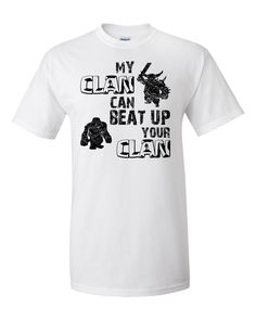 Clash of Clans Custom Screen Printed T Shirt My Clan by CloneThing Clash Of Clash, Talking T, Custom Screen Printing, Clash Royale, Love T Shirt, Shirt Shop, Shirt Designs, Tee Shirts, My Style