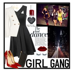 """Girls Night Out"" by jcalbert ❤ liked on Polyvore featuring Anja, WithChic, Alexander McQueen, Christian Louboutin, Essie, Balmain, women's clothing, women, female and woman"