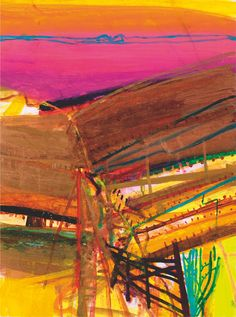 Ceanthru Thaidhg Silkscreen Print by Barbara Rae Contemporary Landscape, Abstract Landscape, Landscape Paintings, Landscapes, Abstract Art, Abstract Expressionism, Barbara Rae, Glasgow School Of Art, Landscape Photography Tips