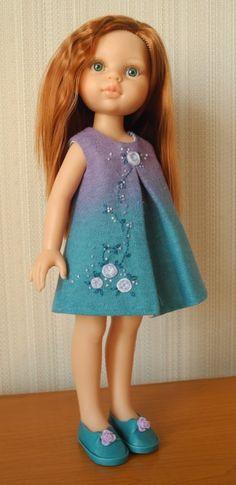 Новое платье для русалочки / Paola Reina, Antonio Juan и другие испанские куклы / Бэйбики. Куклы фото. Одежда для кукол