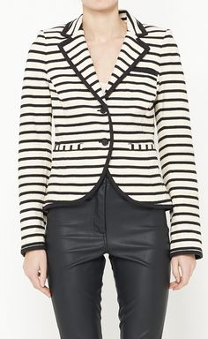 Bird by Juicy Couture Black And White Jacket  Ganti clananya dengan kulot