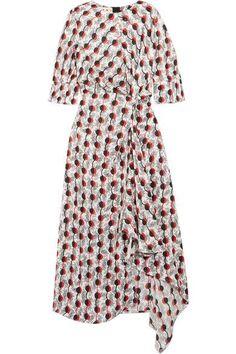 Marni - Asymmetric Printed Silk-jacquard Dress - White - IT