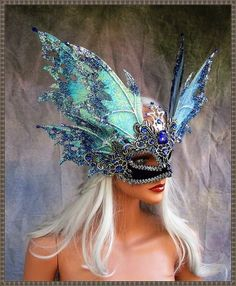Thanx sooo much for viewing! From the timeless Realm of Fairy comes an exquisitely detailed Fairy Ma Masquerade Wedding, Masquerade Ball, Masquerade Costumes, Masquerade Party Outfit, Mascarade Mask, Silver Masquerade Mask, Eyes Wide Shut Mask, Costume Venitien, Carnival Masks