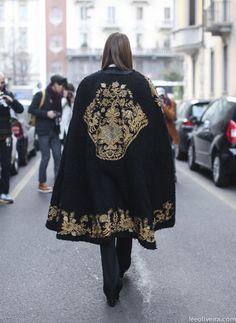 Anna Dello Russo in Dolce and Gabbana via...