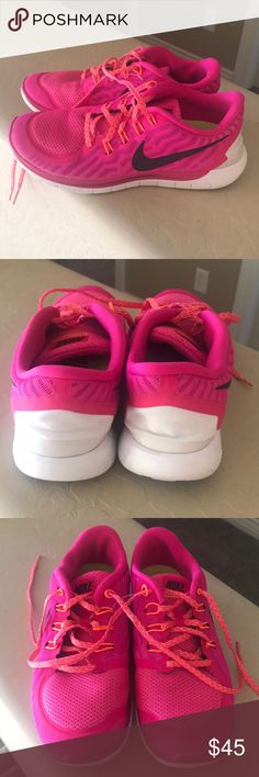 Nike running shoes. Great condition! Pink. Nike Shoes Athletic Shoes