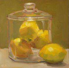 MaryAnn Kline, oil {still life fruit lemons painting} Painting Still Life, Paintings I Love, Small Paintings, Academic Drawing, Still Life Fruit, Fruit Painting, Lemon Painting, Fruit Art, Art Oil