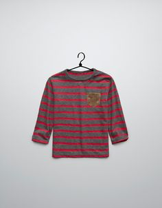 striped t-shirt with elbow patches - T-shirts - Baby boy (3-36 months) - Kids - ZARA United States