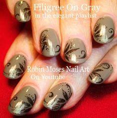 """""""nail art""""""""hand painted nail art""""""""nail art for beginners""""""""robin moses nail art""""""""best nail designs""""""""cheap nail art""""""""inexpensive nail art""""""""nail design"""" Elegant Nail Art, Elegant Nail Designs, Fall Nail Art Designs, Blue Nail Designs, Nail Art Diy, Diy Nails, Christian Louboutin Nail Polish, Nailart, Nails 2015"""