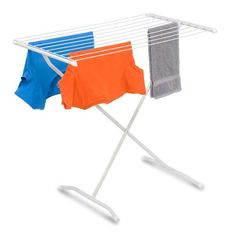 The Honey-Can-Do X-Frame Folding Drying Rack provides feet of space to dry your laundry. The sleek metal drying rack holds your clothes, accessories, and more with ease and folds up to store when not in use. Clothes Drying Racks, Clothes Dryer, Clothes Line, Laundry Hanger, Laundry Storage, Walmart, Boutique, Storage Organization, Easy Storage