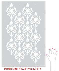 Peacock Feather Wall Stencil  Boho Chic by royaldesignstencils