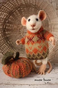 Halloween and Fall Decor Knit Pumpkin Set of by MouseHousebyAlina