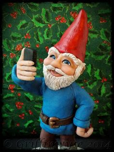 Gnome taking a selfie  Mack by Griffinwyse on Etsy