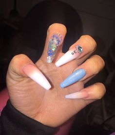 Nails Acrylic Ideas Summer Colour 61 Ideas For 2019 - - Aycrlic Nails, Glam Nails, Classy Nails, Fancy Nails, Trendy Nails, Cute Nails, Hair And Nails, Coffin Nails, Nail Nail