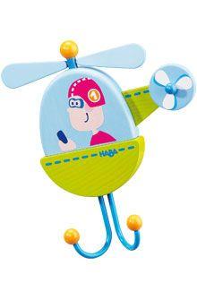 HABA - Erfinder für Kinder - Einzelhaken Hugo Heli - Garderoben + Wandhaken - Kinderzimmer - Spielzeug & Möbel