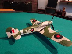 Scale model aircraft - Typhoon British Fighter 1/48 scale Tamiya