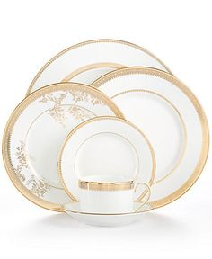 Vera Wang Wedgwood Dinnerware, Lace Gold Collection. Fine China  DinnerwareDinnerware SetsPlace SettingsTable ...