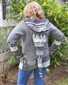Upcycled Sweater Hoodie