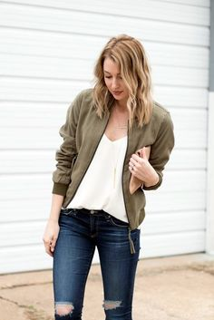 45 Warm Bomber Jacket Outfits that'll make the winter Cozy