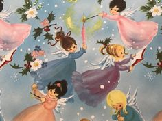 Vintage Christmas Wrapping Paper Little by TheGOOSEandTheHOUND