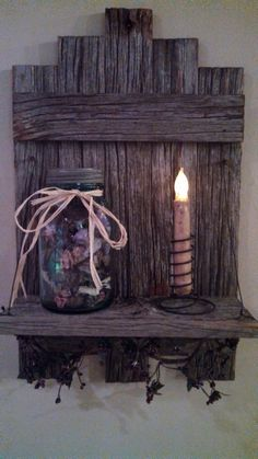 Hey, I found this really awesome Etsy listing at https://www.etsy.com/listing/182976571/rustic-barn-wood-shelf