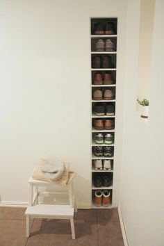 genius simple storage for those who like to keep shoes by the door