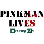 Breaking bad design on shirts and more merchandise.