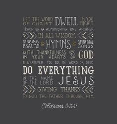 Colossians 3:16-17 Scripture prints and free desktop, iPad, and iPhone wallpapers www.handlettering.co