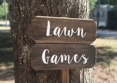 Lawn Games Sign Yard Games Sign Barn Wood Signs Rustic Wood