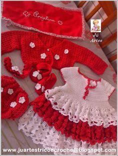 ju artes croche e trico: Vestido Infantil de Croche com Gráfico