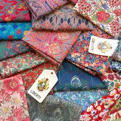 Liberty Fabric, patterns, kits, Liberty Tana Lawn - Liberty of London fabric online Liberty Of London Fabric, Liberty Fabric, Textiles, Flower Power, Liberty Quilt, Vintage Fabrics, Fabric Patterns, Fabric Crafts, Fabric Design