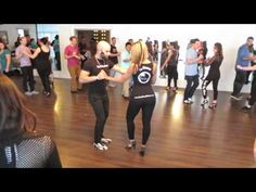 ▶ Bachata workshop with ''Ataca'' & ''La Alemana'' at the Island Touch night on January 4th 2015 - YouTube