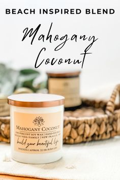 A beach inspired blend of mahogany layered with coconut, sandalwood, vanilla, and oak moss.