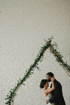 Forever swooning because of this pair of cuties and their romantic + minimalist wedding | Image by Geoff Duncan