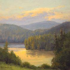 Sunrise on the Lake, 12x12, oil