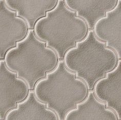 Dove Gray Arabesque Mosaic - this is the tile that will be used in the kitchen…