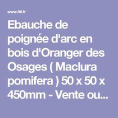 Ebauche de poignée d'arc en bois d'Oranger des Osages ( Maclura pomifera ) 50 x 50 x 450mm - Vente outillage bois - FTFI