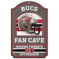 Tampa Bay Buccaneers Fan Cave 11x17 Wood Sign