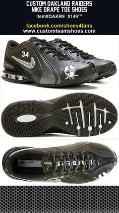 Oakland Raiders Legends Black Edition Drape Toe Shoes