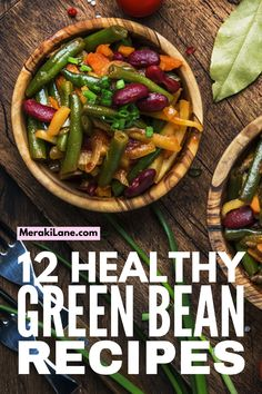 12 Healthy Green Bean Recipes | Clean eating just got easier - and tastier - with this collection of easy green bean recipes. There are so many ways to cook green beans - you can steam or boil them, cook them in the oven, throw them in the air fryer or crockpot, and they taste amazing sautéed. From side dishes, to make ahead casserole recipes, to low carb dinners the whole family will love, these heart healthy recipes will not disappoint!