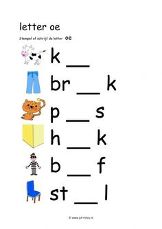 Letterwerkbladen oe