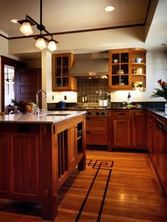 Craftsman kitchen, full of great details