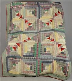 A little pineapple with your logs? Swedish quilt, 1920-40 Interesting variation on a Log Cabin Quilt.  xxx
